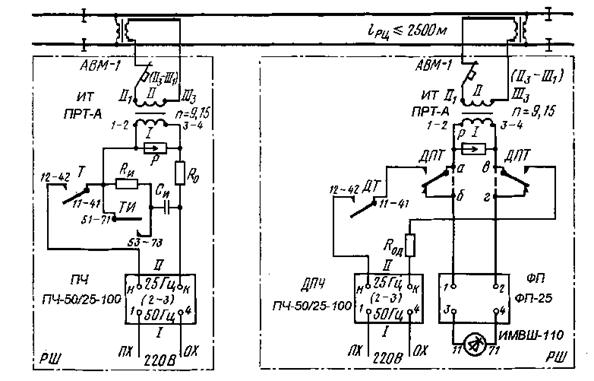 Электрические схемы перегонных